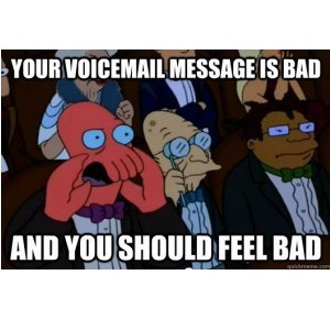 Evil voicemail e-mail