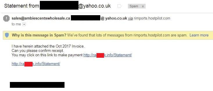 malicious e-mail