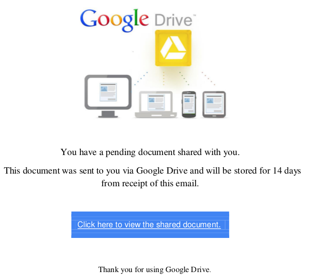 Tax refund scam google drive link